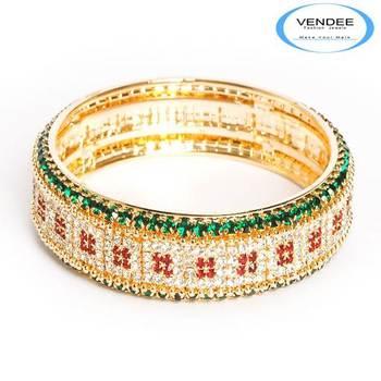 Vendee party wear Diamond Bangles 2828