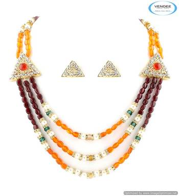 Vendee Funky multi color necklace jewelry 5014