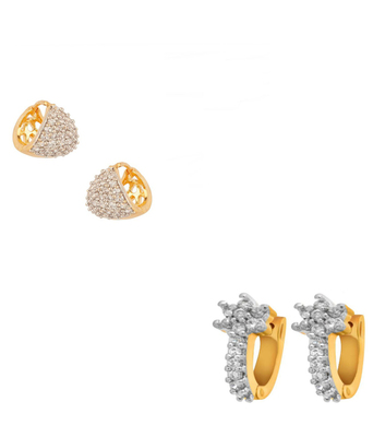White Cubic Zirconia Earrings
