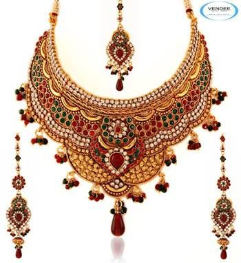 Vendee Wedding wear copper necklace jewelry 5043
