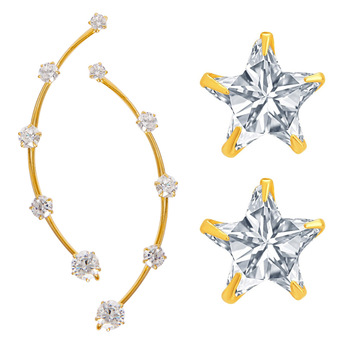 White Cubic Zirconia Earrings