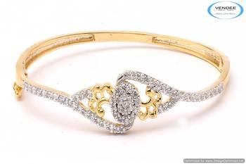 Vendee Beautiful CZ diamonds bangle 5294