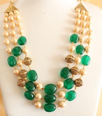 Royal Semiprecious Stone Multilayer Necklace Set