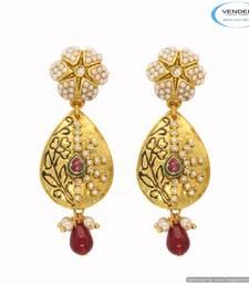 Buy Vendee Gold plated stud diamond earring 6668 stud online