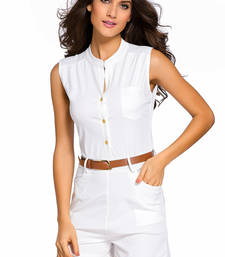 Buy Button Front Belted Romper western-wear online
