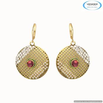 Vendee Round stud fancy diamond earring 6678
