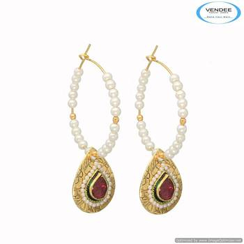 Vendee Floral designed earring 6682