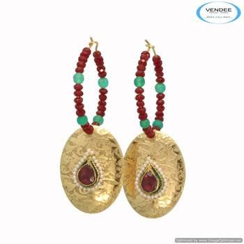Vendee Stuning stones Enamel fashion earring 6685
