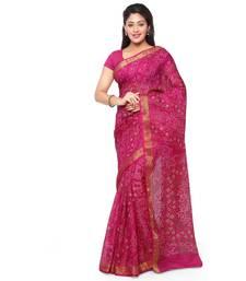 Buy Pink printed kota silk saree with blouse kota-silk-saree online