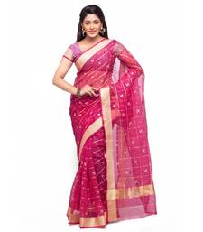 Buy Magenta embroidered kota silk saree with blouse kota-silk-saree online