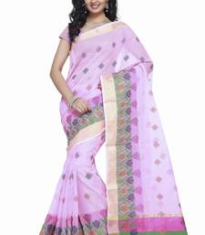 Buy Purple embroidered kota silk saree with blouse kota-silk-saree online