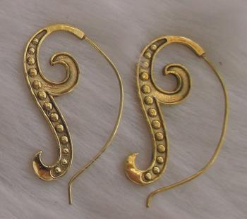 Golden Brass hoops