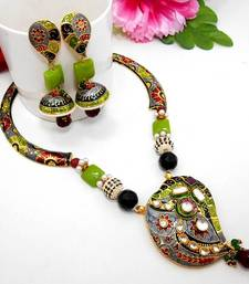 Buy Meenakari Ethnic Pipe Necklace  2 Necklace online