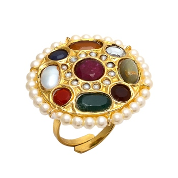 Multicolor Navratan Ring