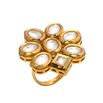 Golden Kundan Ring
