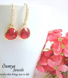 Buy Flaming Red Drop Earrings danglers-drop online