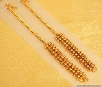 Gold Look Fine Ear Chain