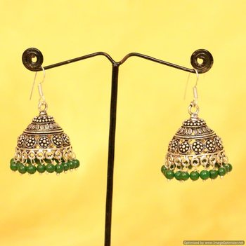 Silver Plated Antique Look Jhumka'S