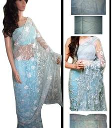 Buy Sonam Kapoor In Sky Sari At promote Raanjhanaa sonam-kapoor-saree online