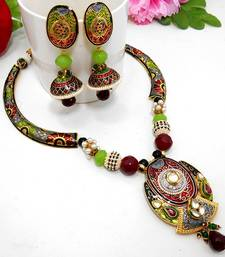 Buy Meenakari Ethnic Pipe Necklace  6 Necklace online