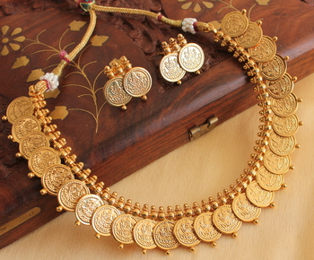 Beautiful Antique Coin Necklace Set