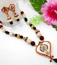 Buy Meenakari Ethnic Neck Ear Set 24 Necklace online