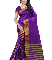 Buy Blue embroidered cotton saree with blouse fashion-deal online