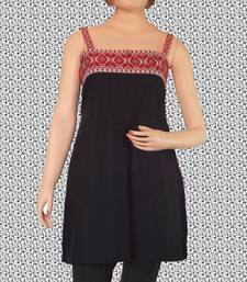 Buy Ethnic Touch - Designer Black and Red Kurti with Red weaving kurtas-and-kurti online
