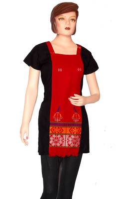 Ethnic Touch - Black and Red Kurti