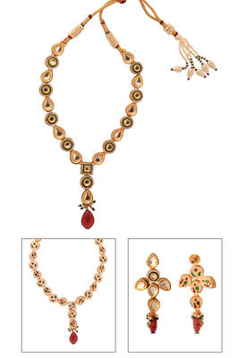 Gold plated Choker Necklace Set from Just Women