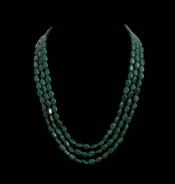 Green Onyx Gemstone 3 Layered Necklace