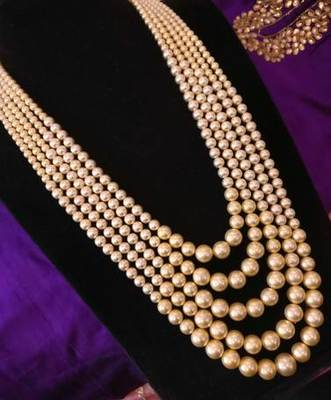 Shell Pearl 5 Layered Necklace