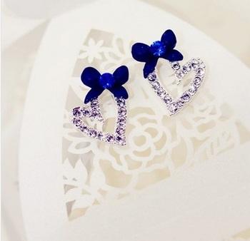Morcrest Blue Divine Heart Studs