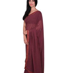 Buy Maroon polka dot georgette saree with blouse georgette-saree online