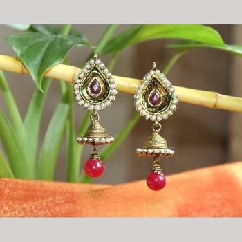 Drop Shape earrings with Jhumkis