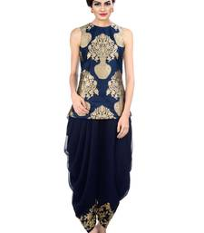 Buy Dhoti Pant with Jacket by fabkaz (Navy blue) women-ethnic-wear online