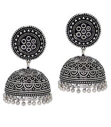 Hot Sales Amazing New Look Handmade Oxidised Silver Tone Jhumka Earrings
