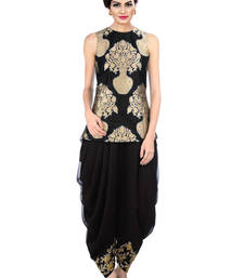 Buy Indo Western Dhoti Pant with Jecket (Black) punjabi-suit online