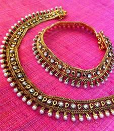 Buy Very Pretty Pearl Polki with Meenakari Payal or Anklet  DDS 16 rj14 anklet online