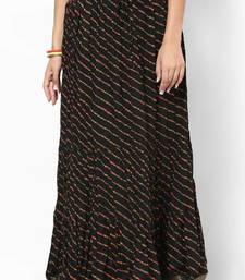 Stunning Black Printed Cotton Skirt