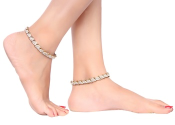 Exclusive Austrian Stone Work Designer Anklets For Party