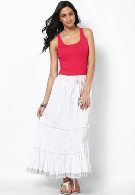 Amazing White Cotton Skirt