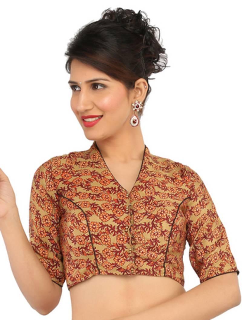 45269e712a5ffa Kalamkari Blouse With Kerala Saree Images   Brain Hive