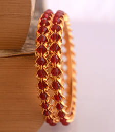 Buy Maroon crystal bangles hair-accessory online