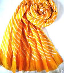 Buy Orange Leheriya stole-and-dupatta online