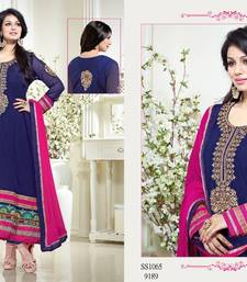 Buy Blue and Pink Long Anarkali Dress - Ayesha Takia salwar kameez anarkali-salwar-kameez online