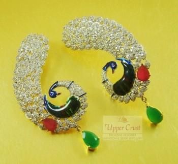 Peacock Kanphul Kanphool Earrings