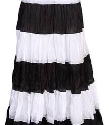 Buy Black cotton plain free size skirts long-skirt online