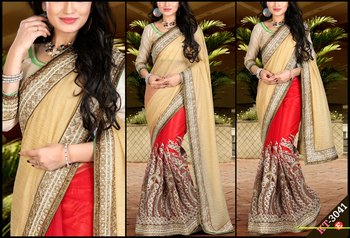 Multi color designer georgette saree