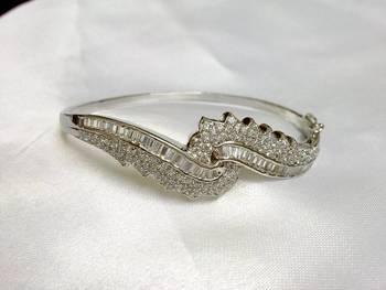 Silvery Shining CZ Bracelet